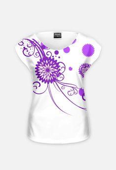 koszulka-wzorek fiolet