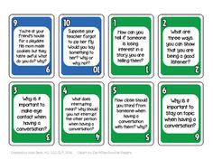 Card game for Social Skills - Plays like UNO! Counseling, ASD HFA, Speech Tx