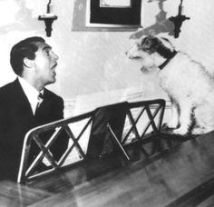 - cary grant - singing with the pooch