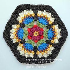 knit & crochet design: Frida's Flowers Block Three & Four Crochet Afgans, Crochet Quilt, Crochet Blocks, Crochet Squares, Crochet Motif, Crochet Doilies, Knit Crochet, Crochet Puff Flower, Crochet Flower Patterns