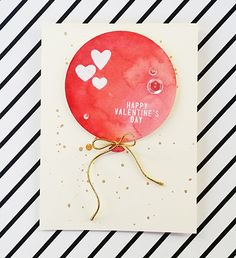 "Beautiful valentines day card by Andreea on the Simon Says Stamp ""Spotted"" blog post."