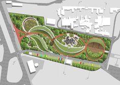 39 Super Ideas For Landscape Architecture Project Plan Landscape Model, Landscape Design Plans, Landscape Architecture Design, Urban Landscape, Landscape Bricks, Poket Park, Koshino House, Villa Architecture, Classical Architecture