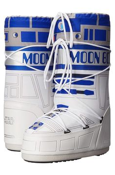 Tecnica Moon Boot Star Wars R2-D2 (White/Blue/Silver) Work Boots - Tecnica, Moon Boot Star Wars R2-D2, 14021100-001, Footwear Boot Work, Work, Boot, Footwear, Shoes, Gift - Outfit Ideas And Street Style 2017