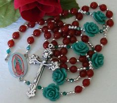 Our Lady of Guadalupe Gemstone Rosary, $42.00