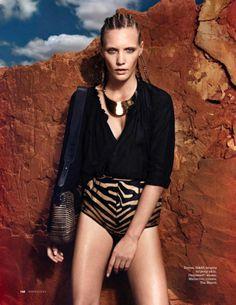 Elle Russia June 2014 | Emma Menteath by Gregor Hohenberg  [Editorial]