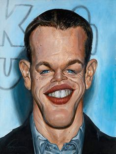 Matt Damon    Artist: Derren Brown    website: http://derrenbrown.co.uk