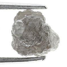 1.12 Ct Natural Loose Diamond Rough Natural  Shape Silver Color