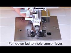 Buttonhole with SINGER 9960 How to use video