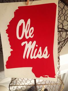 A personal favorite from my Etsy shop https://www.etsy.com/listing/262936414/state-of-mississippi-with-ole-miss
