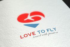 Sound Logo, Fly Love, Love Logo, Abstract Logo, Professional Logo Design, Travel Logo, Logo Design Template, Logo Concept, Coreldraw