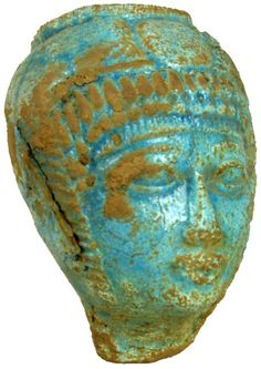 Ancient Egyptian artifact - statue of head 1570 - 1342 BC