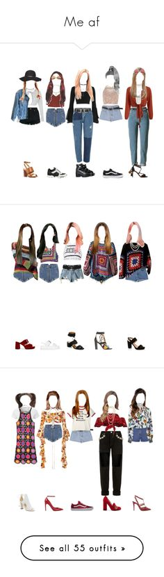 """""""Me af"""" by xxeucliffexx ❤ liked on Polyvore featuring MeAf, Boohoo, Calvin Klein Jeans, Chanel, Vetements, River Island, Topshop, Vans, Kiki de Montparnasse and Versace"""
