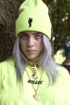 billie CHICAGO, IL - AUGUST Billie Eilish poses during Lollapalooza 2018 at Grant Park on August 2018 in Chicago, Illinois. (Photo by Tim Mosenfelder/Getty Images) Billie Eilish, Lollapalooza, Rapper, Grant Park, Youtuber, Influencer, Poses, Cartoon Wallpaper, My Idol