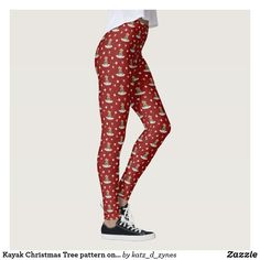 Shop Kayak Christmas Tree pattern on red or ANY color Leggings created by katz_d_zynes. Milan Fashion Week Street Style, Spring Street Style, Milan Fashion Weeks, Workout Leggings, Women's Leggings, Custom Leggings, Fashion Outfits, Womens Fashion, Gym Fashion