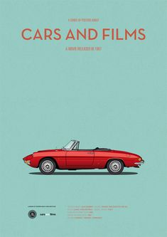 Poster of the car of The Graduate. Illustration Jesús Prudencio. Cars And Films