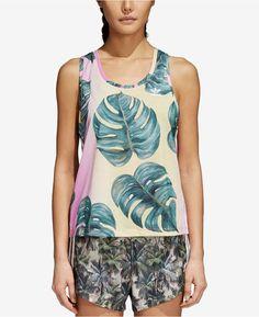 8144a31b9a adidas Printed Tank Top Printed Tank Tops, Sleeveless Shirt, Palm Print,  Adidas Originals