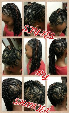 Hairstyle with hearts by Shantel - http://www.blackhairinformation.com/community/hairstyle-gallery/braids-twists/hairstyle-hearts-shantel/