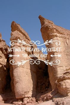 From Israel to the UAE... Everything you could ever want to do in the Middle East! Click through to read my Ultimate Travel Bucketlist: The Middle East!