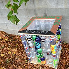 Kids could do this recycling project for Earth Day!