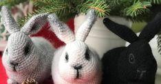 Página con todos los patrones de amigurumis gratuitos que he encontrado por Internet, entre ellos este patrón AMIGURUMI CONEJO y muchos más Crochet Food, Doll Clothes, Needle Felting, Lana, Rabbit, Dolls, Christmas Ornaments, Holiday Decor, Blog