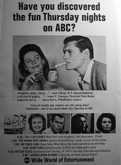 Check out this great lineup from 1964, the year I was born! TV was sure a lot better back then.