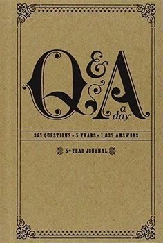 Q&A a Day: 5-Year Journal by Potter Style http://www.amazon.com/dp/0307719774/ref=cm_sw_r_pi_dp_..zDvb14H8WN5