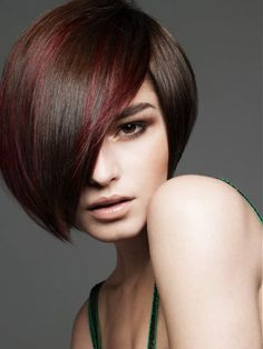 Perfect bob hairstyle with beautiful fringe