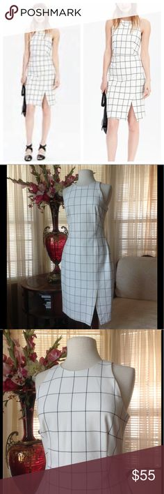 """Banana republic window pane print sleeveless dress In excellent condition. No signs of wear. It is 42"""" long measuring on the mannequin.            .       h7 Banana Republic Dresses"""