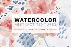Abstract colorful watercolor texture by likorbut on @creativemarket