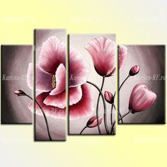Купить модульную картину Ласковое прикосновение Acrylic Painting Tips, Acrylic Art, Painting Frames, Wall Art Decor, Wall Art Prints, Orchids Painting, 3 Piece Canvas Art, Cherry Blossom Painting, Beginner Painting