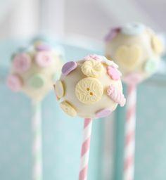 """Cute as a Button"" Cake Pops"