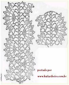 Vestido em Crochê Com Sugestão do Gráfico do Ponto - Katia Ribeiro Moda e Decoração Handmade