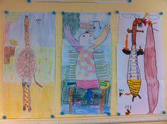 Leuke opdracht voor de groepsvorming/samenwerking. Idee van www.gripopdegroep.nl 'fantasiedier' maken met een groepje. Ieder maakt een deel van het dier. Overleggen en afspraken maken is dus van belang.