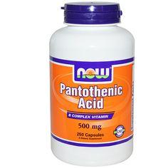 Now Foods, kwas pantotenowy, 500 mg, 250 kapsułek E-vita - Wszystko dla zdrowia