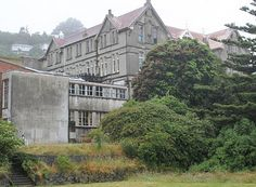 """I love the gothic Erskine College, Island Bay, Wellington, New Zealand - long since closed. I see this from my living room window. Peter Jackson filmed scenes for his movie """"The Frighteners"""" here."""