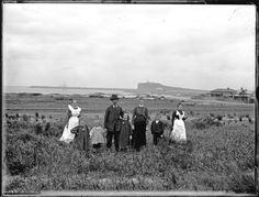 Mrs and Mr A Graham's family group, Stockton, NSW, 24 June 1902 Local History, Family History, Country Home Exteriors, Country Homes, Australian Road Trip, Aboriginal People, Newcastle Nsw, Swansea, My Town