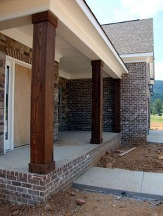 House exterior designs with pillars best front porch pillars ideas on porch columns porch pillars and . house exterior designs with pillars Veranda Pergola, Front Porch Columns, Front Porches, Front Porch Remodel, Front Porch Posts, Brick Porch, Front Porch Makeover, How To Build Porch Columns, Door Makeover