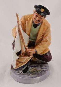 """Royal Doulton Sea Characters Figurine Sailor's Holiday HN 2442 6.25"""" Sail boat #RoyalDoulton"""