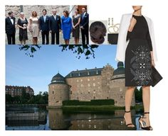 """Attending a banquet hosted by County Governor Rose-Marie and her husband Hans Gunnar Frebran at Örebro Castle"" by swedish-princess ❤ liked on Polyvore featuring Temple St. Clair, McQ by Alexander McQueen, Roland Mouret, Gianvito Rossi and Gucci"