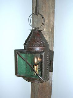 "An 18th C., ""Rare Windowed,"" Pierced Candle Lantern"