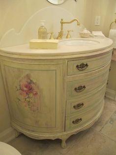 Shabby+Chic+Bathrooms | Shabby Chic ♥ Bathroom vanity.