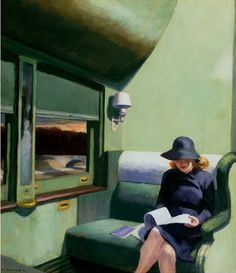 edward hopper | Edward Hopper (3)..me on the train...out west...2011