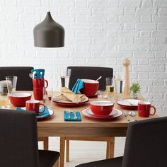 My wedding gift ideas: Red. John Lewis Stoneware mugs #johnlewis #dining Registering your list is free and easy - simply call or visit your local shop, or go online: www.johnlewisgiftlist.com