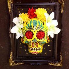 skull in a frame