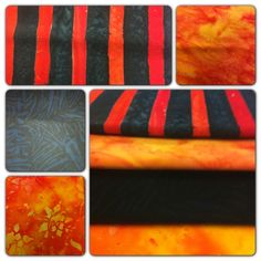 Repin for a chance to win our Nov 1 #FlareFabricsTGIF giveaway - 4 orange and black #batik FQs. Head over to facebook.com/flarefabrics for more chances. Winner announced Monday Halloween Fabric, Quilts, Quilting Ideas, Sewing, Giveaways, Flare, Fabrics, Orange, Facebook