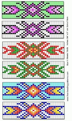 Patterns for a bracelet.