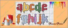 Paint or Painted Alphabet a-k