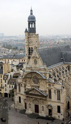 Paris, The Pantheon - St Etienne du Mont Church from the dome