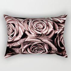 Vintage Rose Pink Roses Rectangular Pillow