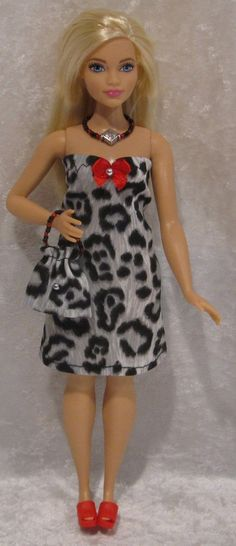 Handmade Clothes for Barbie Fashionistas Curvy Dolls Dress Purse Necklace 05 | eBay